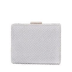 Quiz - Gabby's silver diamante chain box bag