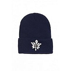 Quiz - Navy diamonds beanie hat