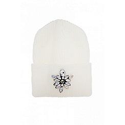 Quiz - White diamonds beanie hat