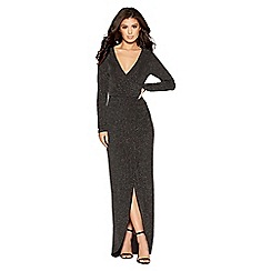Quiz - Multi glitter wrap maxi dress