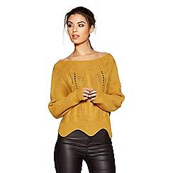 Quiz - Mustard light knit cable crop jumper