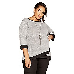 Quiz - Curve grey and black cross over top