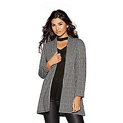 Quiz - Grey long sleeve check blazer