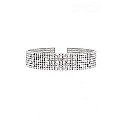Quiz - Gabby´s silver diamante rows choker