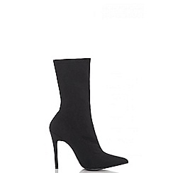 Quiz - Black ankle sock boots
