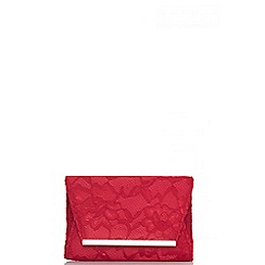 Quiz - Red lace clutch bag