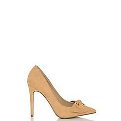 Quiz - Mustard bow front court shoes