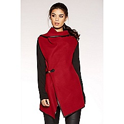 Quiz - Light berry felt wrap coat