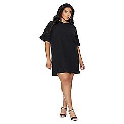 Quiz - Curve black frill tunic dress