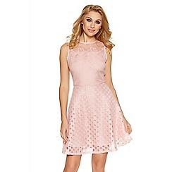 Quiz - Pink mesh skater dress