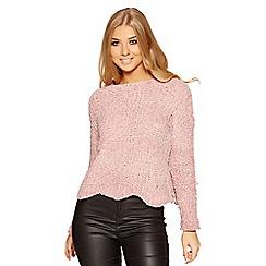 Quiz - Pink knit long sleeves jumper