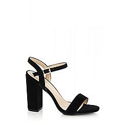Quiz - Black faux suede sandals