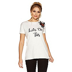 Quiz - White and black slogan t-shirt