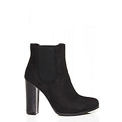 Quiz - Black chelsea high heel boots