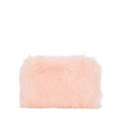 Quiz - Pink faux fur square bag