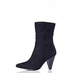 Quiz - Black faux suede boots