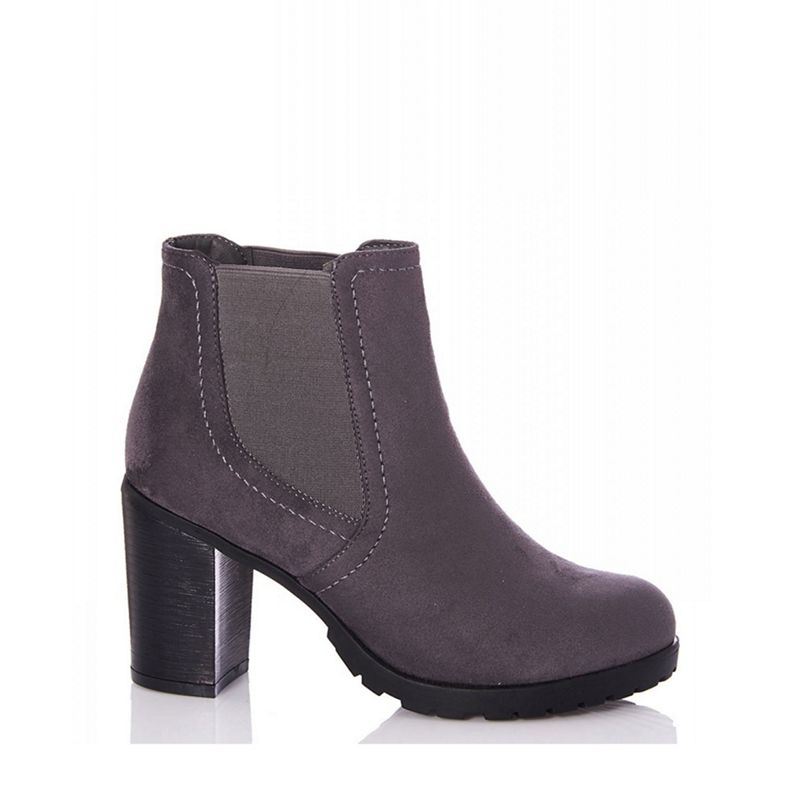 Quiz - Purple Chunky Chelsea Ankle Boots
