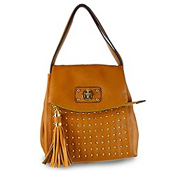 Gionni Accessories - Tan ' Brandi ' double top handle shoulder bag