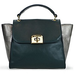Gionni Accessories - Green ' Makayla ' flapover grab handbag