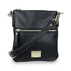 Gionni Accessories - Black 'Alina' ziptop crossbody bag