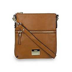 Gionni Accessories - Tan  'Alina' ziptop crossbody bag