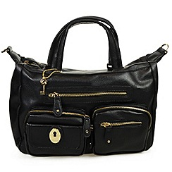 Gionni Accessories - Black ' Melinda ' double handle tote