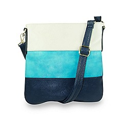 Gionni Accessories - Blue 'Acacia' zip top crossbody bag