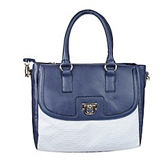 Gionni Accessories - Navy 'Theron' double handle grab bag