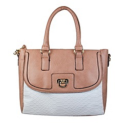 Gionni Accessories - Sand 'Theron' double handle grab bag