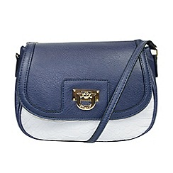 Gionni Accessories - Navy 'Theron' crossbody saddle bag