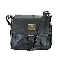 Gionni Accessories - Black 'Tatum' flapover shoulder bag