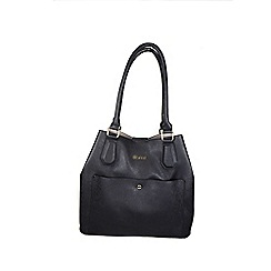 Gionni Accessories - Black ' Kirsi ' velvet lined tote bag