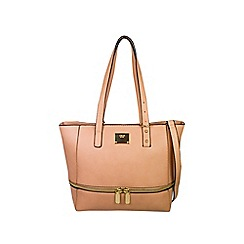 Gionni Accessories - Nude ' Erin ' base zip around tote bag