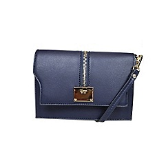 Gionni Accessories - Navy ' Erin ' zip feature flap over cross body