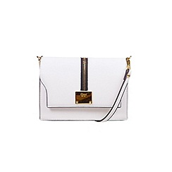 Gionni Accessories - White ' Erin ' zip feature flap over cross body