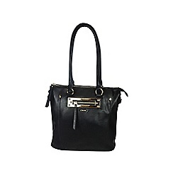 Gionni Accessories - Black ' Anja ' zip pocket feature tote bag