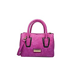 Gionni Accessories - Fuchsia ' Dree ' triple compartment grab bag