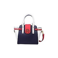 Gionni Accessories - Navy ' Melania ' colour block grab bag