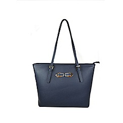 Gionni Accessories - Navy ' Thea ' bow fitting tote bag