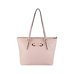 Gionni Accessories - Blush ' Thea ' bow fitting tote bag