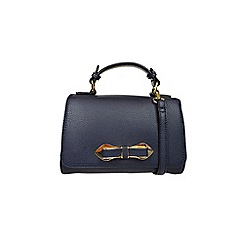 Gionni Accessories - Navy ' Thea ' bow fitting top handle grab bag