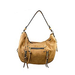 Gionni Accessories - Sand ' Chloe ' zip feature hobo bag