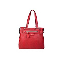 Gionni Accessories - Red ' Kasia ' laser cut panel tote bag