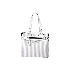 Gionni Accessories - White ' Kasia ' laser cut panel tote bag