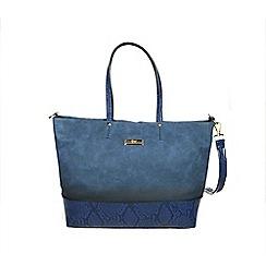 Gionni Accessories - Indigo blue ' Constance ' gradient print tote