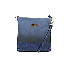 Gionni Accessories - Indigo blue ' Constance ' gradient print cross body