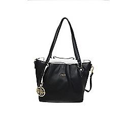 Gionni Accessories - Black ' Arlenis ' triple compartment shoulder bag