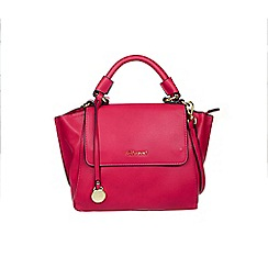 Gionni Accessories - Fuchsia ' Taylor ' flap over top handle winged handbag