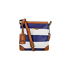 Gionni Accessories - Navy and white ' Nissa ' nautical print crossbody