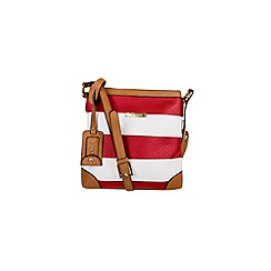 Gionni Accessories - Red and white ' Nissa ' nautical print crossbody